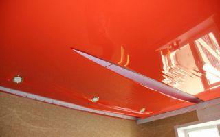 Основные повреждения натяжных потолков