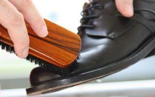 Уход за обувью из гладкой кожи.