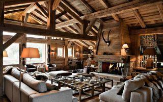 Выбираем интерьер для деревянного загородного дома.