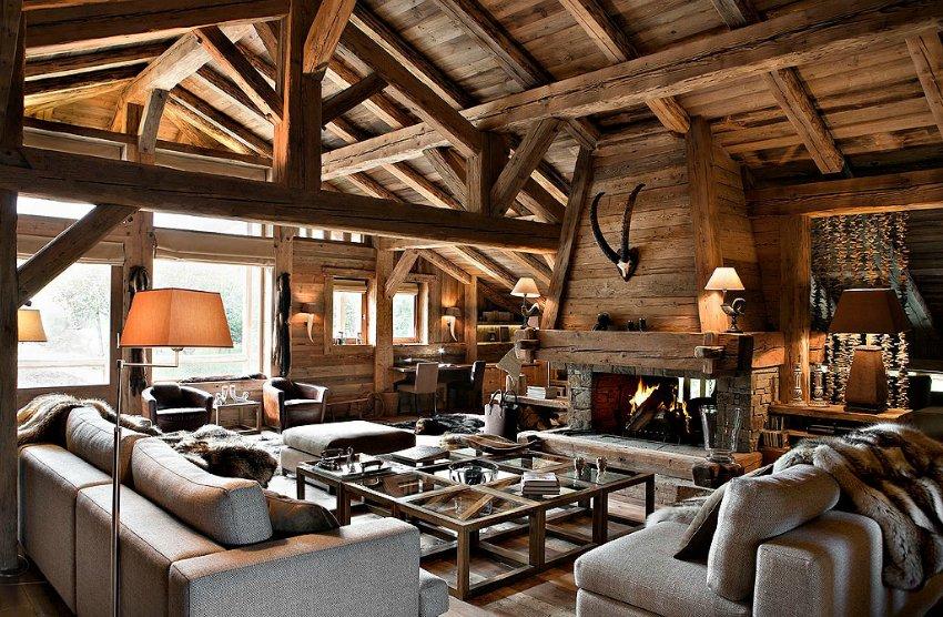 Дизайн загородного дома деревянного дома
